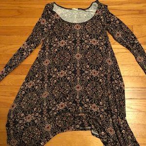Long sleeve pattern dress from Garage